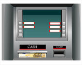 Cash machine with Euros — Stok Vektör