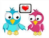 Láska pták pták — Stock vektor
