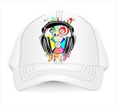 Baseball cap design template. — Stok Vektör