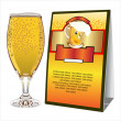 Illustration of beer glass — Stock Vector