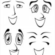 Set of smiling mouth — Stock Vector