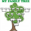 Concept illustration: family tree. — Stock Vector