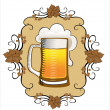 Stock Vector: Beer background.