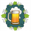Beer background — Stock Vector