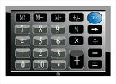 Tablet pc computadora teclado fondo — Vector de stock