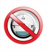 Fuel gauge sign — Vetorial Stock