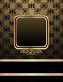 锦缎背景上的复古框架 — 图库矢量图片