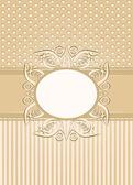 Vintage nahtlose tapete mit einer multifunktionsleiste und rahmen in pastell-farben. — Stockvektor