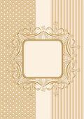 复古无缝壁纸与功能区和柔和的颜色中的帧. — 图库矢量图片