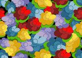 Piękny kwiatowy bezszwowe tapeta — Wektor stockowy