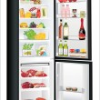 Refrigerator full with some kinds of food - vegetables, meat, fish — Imagen vectorial