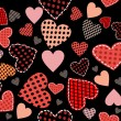Abstract vector background - hearts. - Stockvectorbeeld