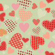 Abstract vector background - hearts. — Stockvektor
