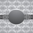 Vintage seamless wallpaper with frame. — Stock Vector #29169081