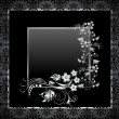 Vintage seamless wallpaper with frame. — Stock Vector #29169867
