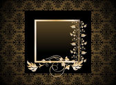 Vintage seamless wallpaper with frame. — Stock Vector