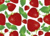 Seamless background with strawberries — Stock Vector