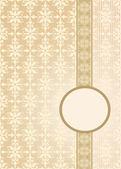 Vintage papel pintado transparente con una cinta y un marco de colores pastel. — Vector de stock