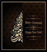 Cartão de saudação de Natal vintage — Wektor stockowy