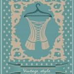 Vintage corset. Postcard. — Stock Vector #33592057