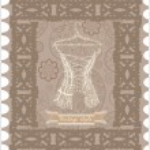 Vintage corset. Postcard. — Stock Vector #33592193