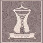 Vintage corset. Postcard. — Stock Vector #33592227