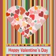 Valentine's Day Card. — Stock Vector #33593041