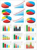 Charts. Set — Stock Vector