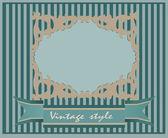 Vintage kortdesign för gratulationskort — Stockvektor