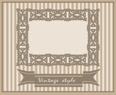 Diseño de tarjetas vintage para tarjeta de felicitación — Vector de stock