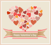 Valentine's Day Card. — Stock Vector