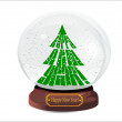 Snow globe with christmas tree — Stock Vector #38607759