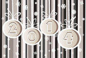 2014 Happy New Year greeting card or background. 2014 year and fireworks. — Stock Vector