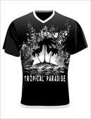 Men's t-shirt design template — Stock Vector