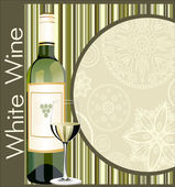 White Wine Menu — Stock Vector
