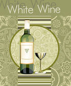 White Wine Menu — Stock Vector