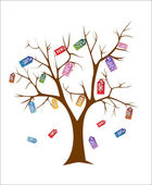 Försäljning träd — Stockvektor