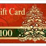 Merry Christmas gift card — Stock Vector #38610223