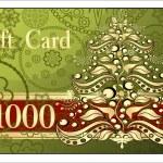 Merry Christmas gift card — Stock Vector