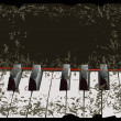 Piano keys old-style — Vector de stock