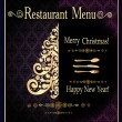 Stock Vector: Christmas restaurant menu design