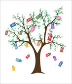 продажа дерево — Cтоковый вектор