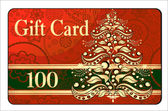 Merry Christmas gift card — Vetorial Stock