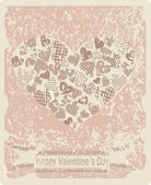 Vintage Valentine's Day Card. — Stock Vector