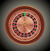 Casino roulette wheel — Stock Vector