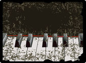 Piano keys old-style — Stock Vector