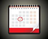 Illustration of detailed beautiful calendar icon — Stock Vector