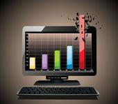 Realistic tablet pc computer profit concept — Stock vektor