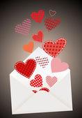 Heart in envelope — Stock Vector