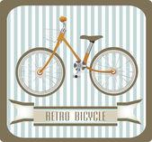 ビンテージ レトロな自転車 — ストックベクタ